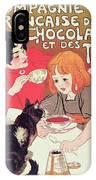 Poster Advertising The Compagnie Francaise Des Chocolats Et Des Thes IPhone Case