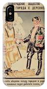 Poster Depicting The Alliance Between The City And The Countryside, 1925 Colour Litho IPhone Case