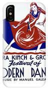 Poster Modern Dance Festival IPhone Case