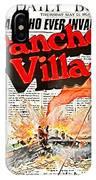 Poster Telly Savalos Pancho Villa In Pancho Villa 1972-2013 IPhone Case