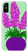 Pot Of Pink Flowers IPhone Case