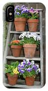 Potted Flower On Ladder IPhone Case
