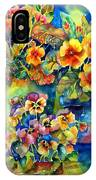 Potted Pansies  IPhone X Case