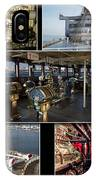 Power Collage Queen Mary Ocean Liner Long Beach Ca 01 IPhone Case