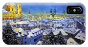 Prague After Snow Fall IPhone X Case