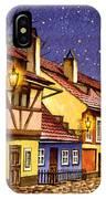 Prague Golden Line Street  IPhone Case