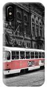 Prague Tram Vintage IPhone Case