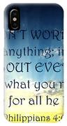 Pray About Everything 2 IPhone Case