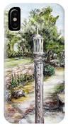 Prayer Wheel At Pacifica's Lambert Campus- Postcard IPhone Case