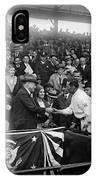 President Herbert Hoover And Baseball Great Walter Johnson 1931 IPhone Case