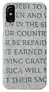 President Truman's Dedication To World War Two Vets IPhone Case