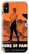 Pressbook The Treasure Of Pancho Villa 1955 IPhone Case