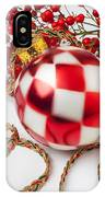 Pretty Christmas Ornament IPhone Case