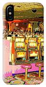 Pretty In Pink Bar Stools And Slots Reserved For Spring Break High Rollers   IPhone Case