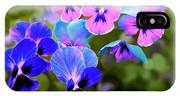 Pretty Pansies 2 IPhone Case