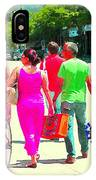 Pretty Pink Summer Dress Sunny Stroll Licari St Denis Scene Montreal Bike Racks And Flowers Cspandau IPhone Case