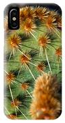 Prickly Cactus Leaf Green Brown Plant Fine Art Photography Print  IPhone Case