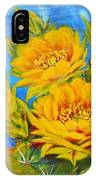 Prickly Pear In Bloom IPhone Case