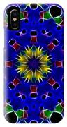 Primary Colors Fractal Kaleidoscope IPhone Case