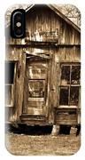 Primative Post Office Cabin In Sepia IPhone Case