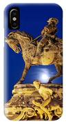 Prince Eugene Of Savoy Statue At Night IPhone Case