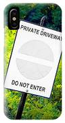 Private Driveway IPhone Case