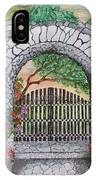 Private Garden At Sunset IPhone Case