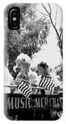 Pro-viet Nam War March Beaver's Band Box Musicians Tucson Arizona 1970 Black And White IPhone Case