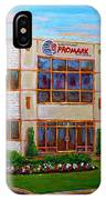 Promark Electronics 215 Voyageur Street Pointe Claire Montreal Scene IPhone Case