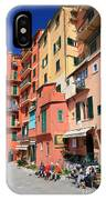 promenade and homes in Camogli IPhone Case