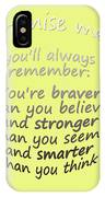 Promise Me - Winnie The Pooh - Yellow IPhone Case