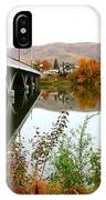 Prosser Bridge And Fall Colors On The River IPhone Case