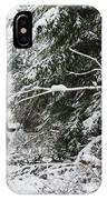Protective Forest In Winter With Snow Covered Conifer Trees IPhone Case