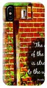 Proverbs 10 29 IPhone Case
