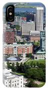 Providence Rhode Island Downtown Skyline Aerial IPhone Case