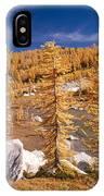Prusik Peak Above Larch Grove IPhone Case