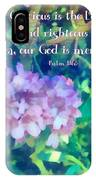 Psalm 116 5 IPhone Case