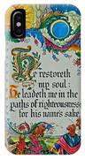 Psalms 23-3 IPhone Case