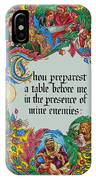 Psalms 23-5a IPhone Case