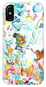 Psychedelic Goddess With Toads IPhone Case