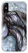 Psychedelic Grey And Blue IPhone Case