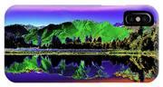 Psychedelic Lake Matheson Ner Zealand 3 IPhone Case