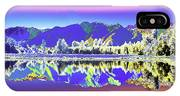 Psychedelic Lake Matheson New Zealand 2 IPhone Case