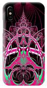 Psychedelic Rollercoaster Tunnel Fractal 65 IPhone Case