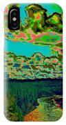 Psychedelic Skyline Over Spokane River #2 IPhone Case