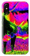 Psychedelic Texas Longhorn IPhone Case