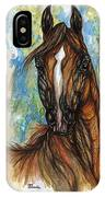 Psychodelic Chestnut Horse Original Painting IPhone Case
