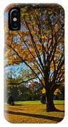 Public Garden Fall Tree IPhone Case