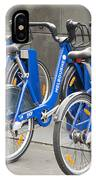 Public Shared Bicycles In Melbourne Australia IPhone Case