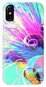 Puffy Bloom W Bee Abstract IPhone Case